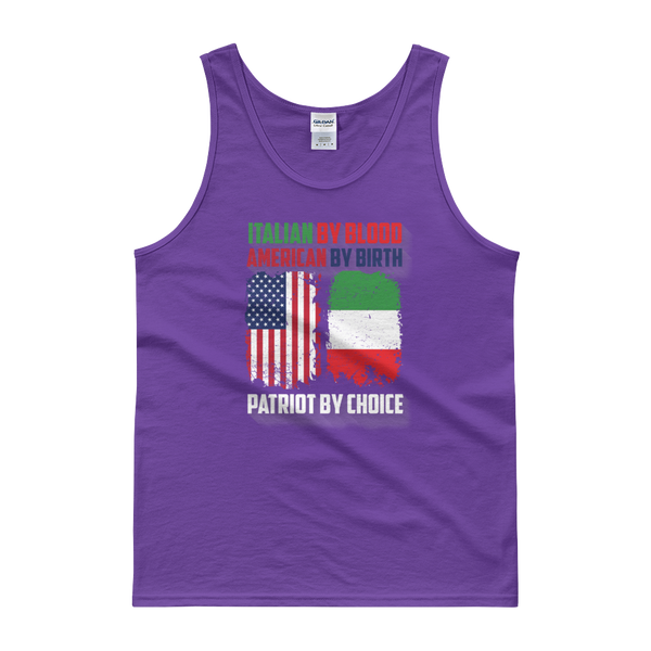Italian By Blood American By Birth Patriot By Choice - Tank top - Cozzoo