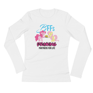 BBFs Drinking Partners For Life - Ladies' Long Sleeve T-Shirt - Cozzoo