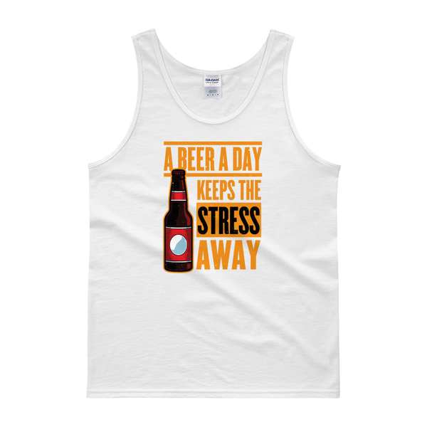 A Beer A Day Keeps The Stress Away - Tank top - Cozzoo