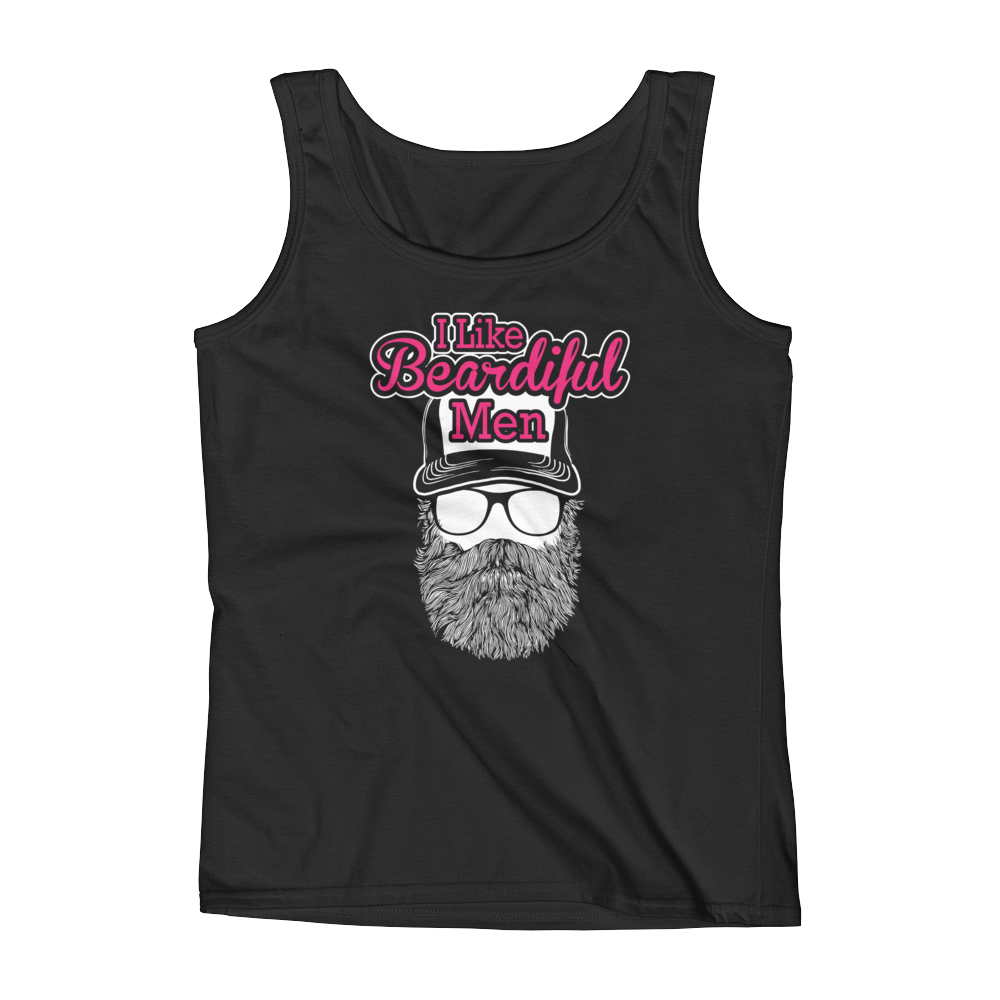 I Like Beardiful Men - Ladies' Tank - Cozzoo