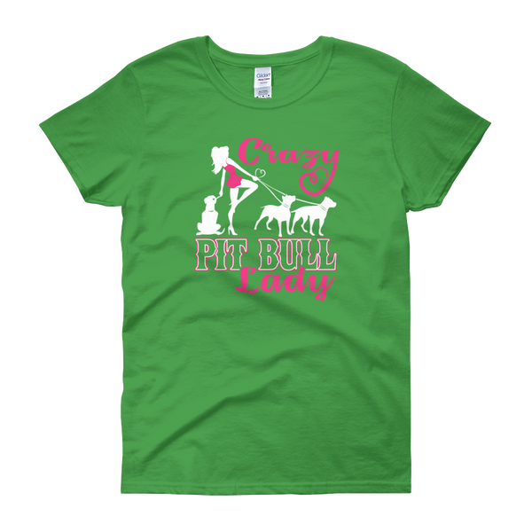 Crazy Pit Bull Lady - Women's short sleeve t-shirt - Cozzoo