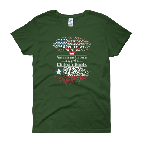 American Grown With Chilean Roots - Women's short sleeve t-shirt - Cozzoo