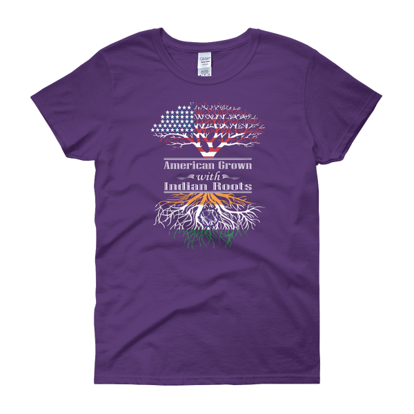 American Grown With Indian Roots - Women's short sleeve t-shirt - Cozzoo