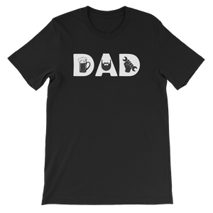 DAD - Beer - Beard - Mechanic - Short-Sleeve Unisex T-Shirt - Cozzoo