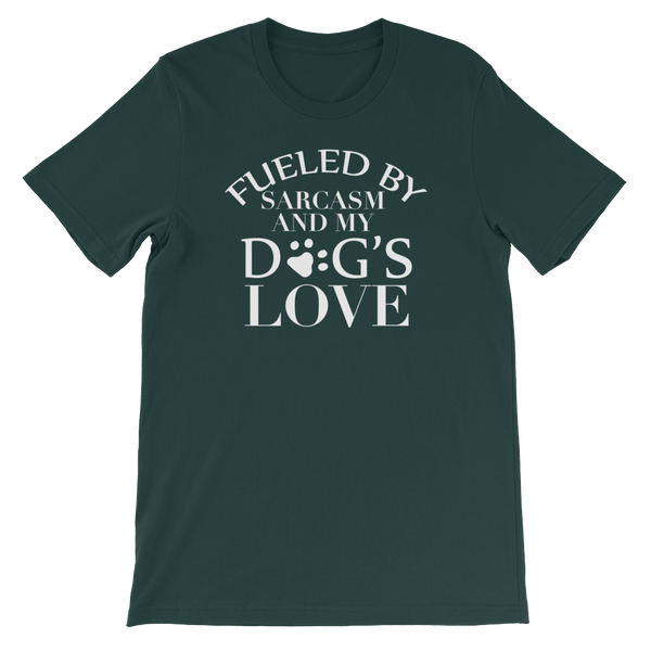 Fueled By Funny And My Dog's Love - Short-Sleeve Unisex T-Shirt - Cozzoo