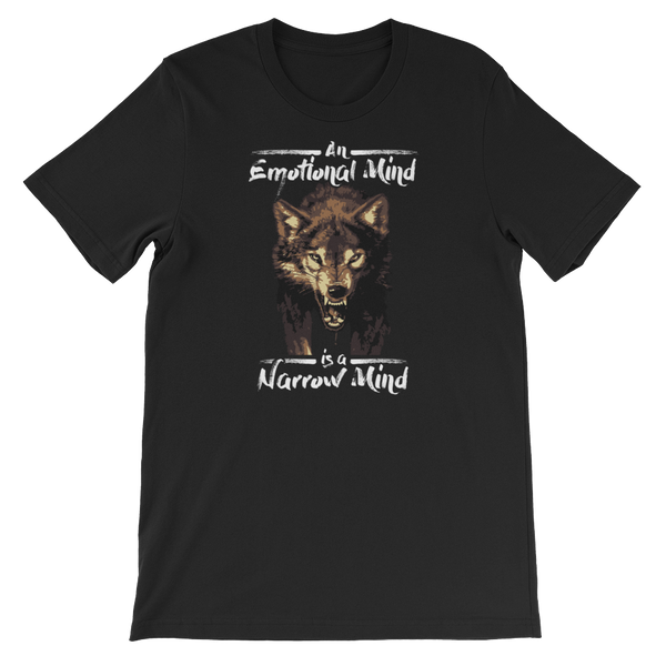 An Emotional Mind Is A Narrow Mind - Short-Sleeve Unisex T-Shirt - Cozzoo