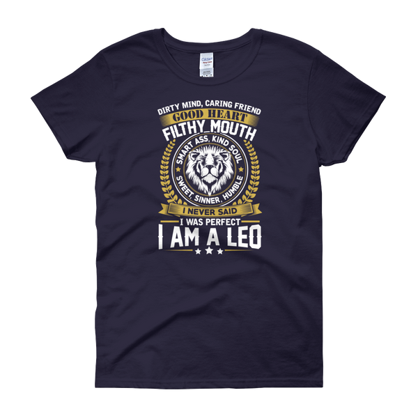 Dirty Mind, Caring Friend, Good Heart... Leo - Women's short sleeve t-shirt - Cozzoo