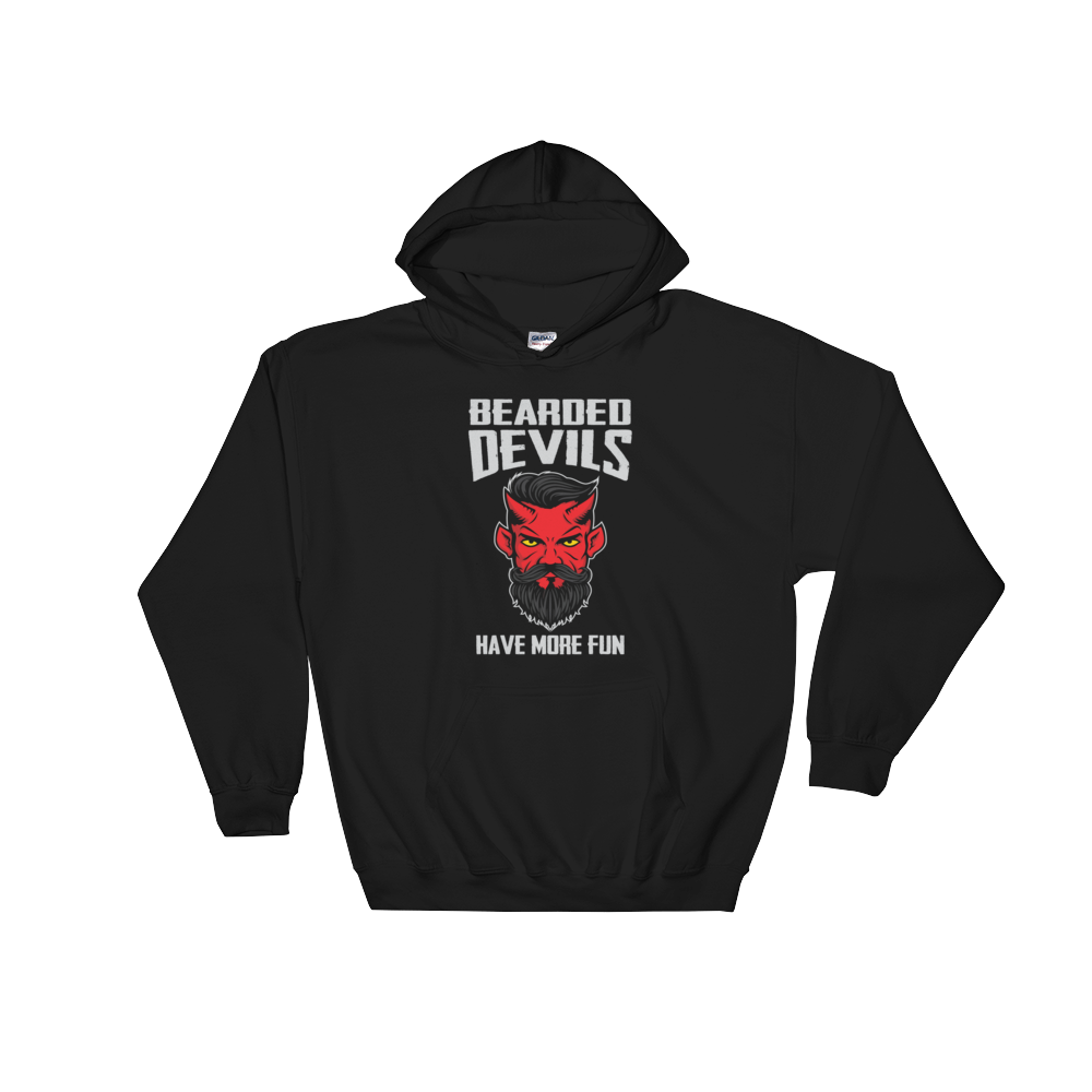 Bearded Devils Have More Fun - Hoodie Sweatshirt Sweater - Cozzoo