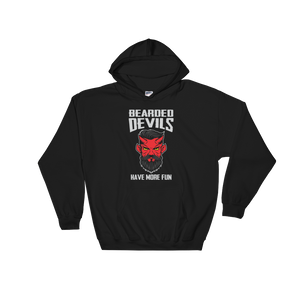 Bearded Devils Have More Fun - Hoodie Sweatshirt - Cozzoo