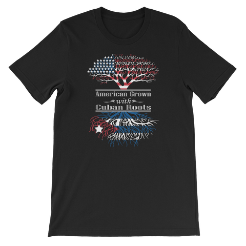 American Grown With Cuban Roots - Short-Sleeve Unisex T-Shirt - Cozzoo