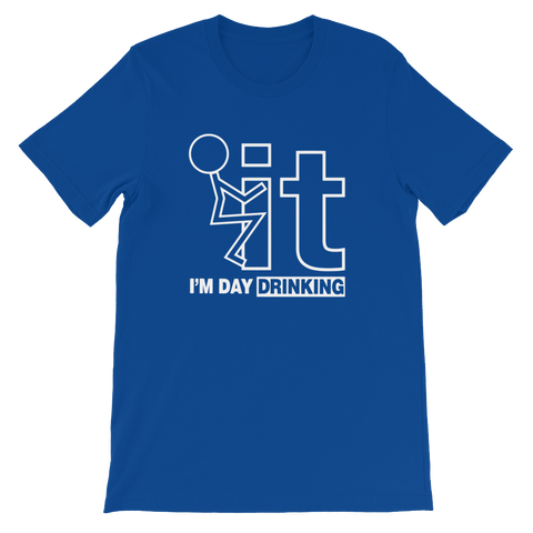 F-it I'm Day Drinking - Short-Sleeve Unisex T-Shirt - Cozzoo