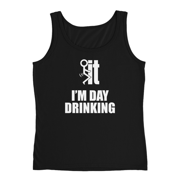 F-it I'm Day Drinking - Ladies' Tank - Cozzoo
