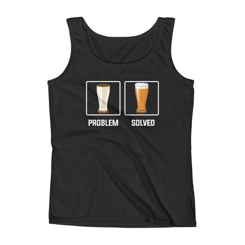 Problem Solved - Beer - Ladies' Tank - Cozzoo