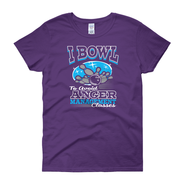 I Bowl To Avoid Anger Management Classes - Women's short sleeve t-shirt - Cozzoo