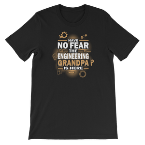 Have No Fear The Engineering Grandpa Is Here - Short-Sleeve Unisex T-Shirt - Cozzoo