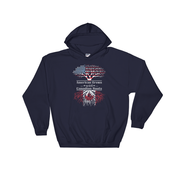 American Grown With Canadian Roots - Hoodie Sweatshirt Sweater - Cozzoo