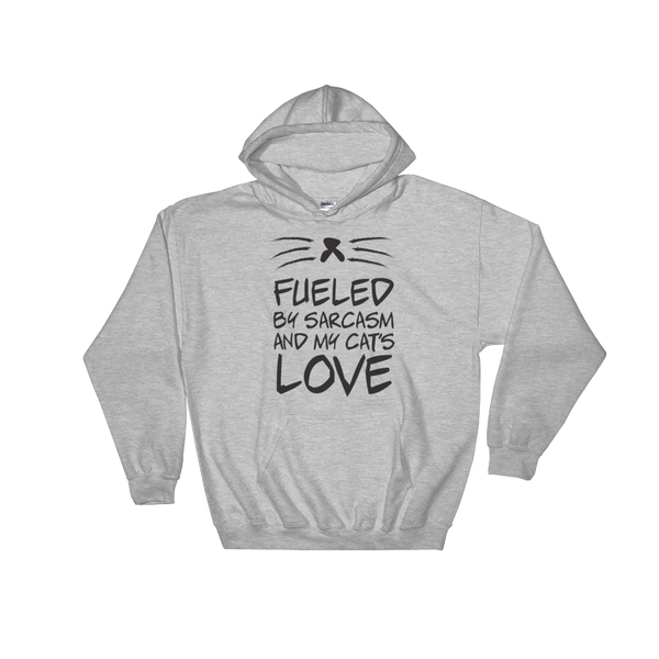Fueled By Funny And My Cat's Love - Hoodie Sweatshirt Sweater - Cozzoo