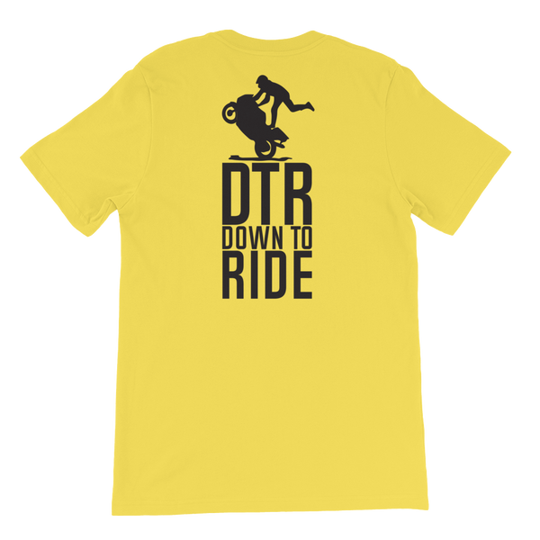 DTR Down to Ride - Short-Sleeve Unisex T-Shirt - Cozzoo