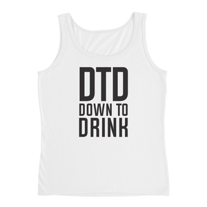 DTD Down to Drink - Ladies' Tank - Cozzoo