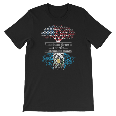 American Grown With Guatemalan Roots - Short-Sleeve Unisex T-Shirt - Cozzoo