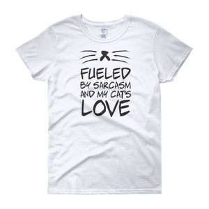 Fueled By Funny And My Cat's Love - Women's short sleeve t-shirt - Cozzoo