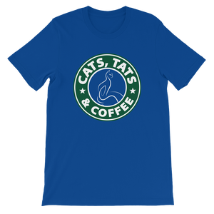 Cats, Tats & Coffee - Short-Sleeve Unisex T-Shirt - Cozzoo