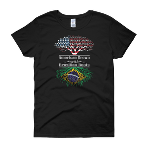 American Grown With Brazilian Roots - Women's short sleeve t-shirt - Cozzoo