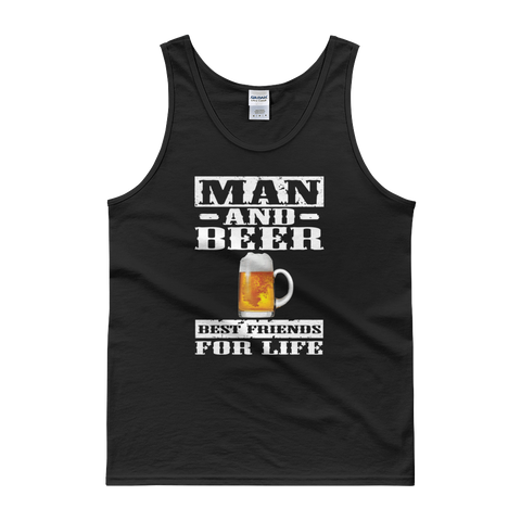 Man And Beer Best Friends For Life - Tank top - Cozzoo