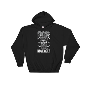 Bearded Legends Are Born In November - Hooded Sweatshirt - Cozzoo