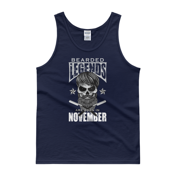 Bearded Legends Are Born In November - Tank top - Cozzoo