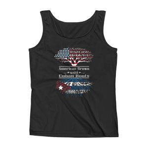 American Grown With Cuban Roots - Ladies' Tank - Cozzoo