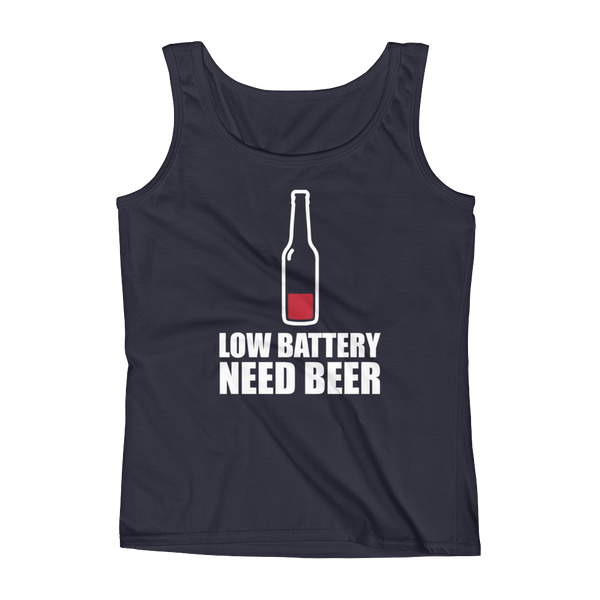 Low Battery Need Beer - Ladies' Tank - Cozzoo