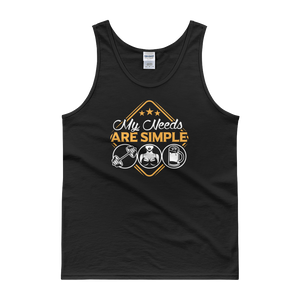Dumbells | Boobs | Beer - My Needs Are Simple - Tank top - Cozzoo