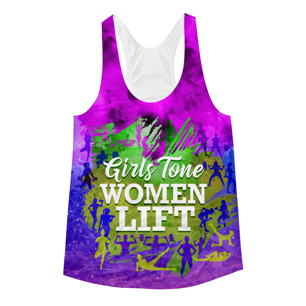 Girls Tone. Women Lift - All Over Print Tank Top - Cozzoo