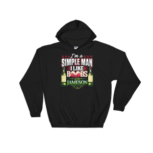 I'm A Simple Man I Like Boobs And Jameson - Hoodie Sweatshirt Sweater - Cozzoo
