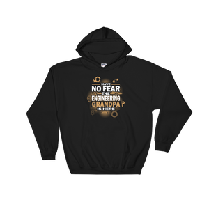 Have No Fear The Engineering Grandpa Is Here - Hoodie Sweatshirt Sweater - Cozzoo