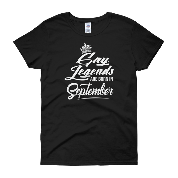 Gay Legends Are Born In September - Women's short sleeve t-shirt - Cozzoo