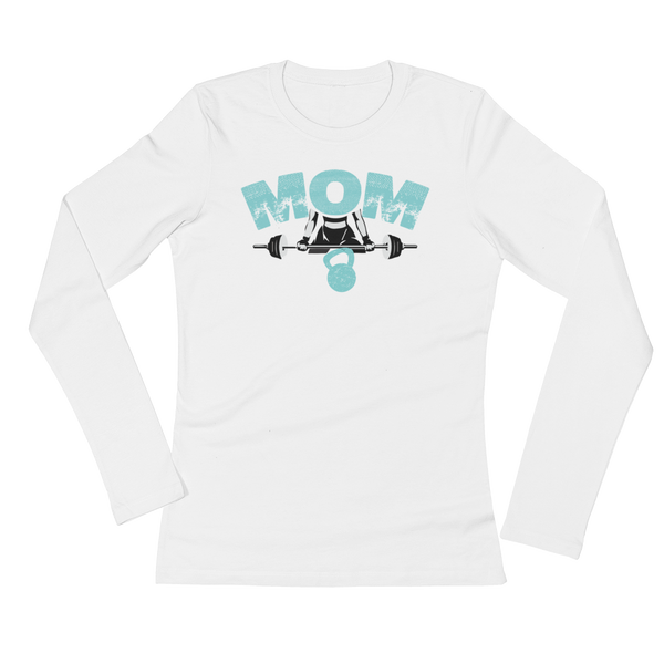 MOM Strong - Ladies' Long Sleeve T-Shirt - Cozzoo