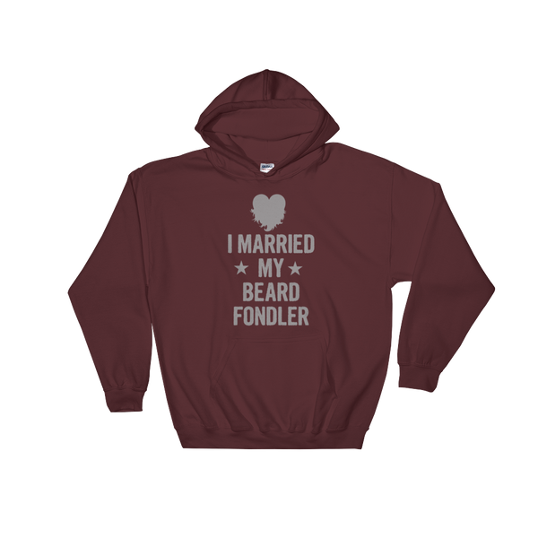 I Married My Beard Fondler - Hoodie Sweatshirt Sweater - Cozzoo