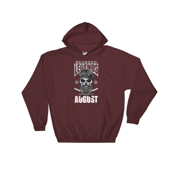Bearded Legends Are Born In August - Hoodie Sweatshirt Sweater - Cozzoo