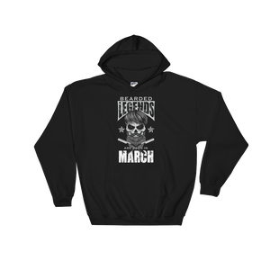 Bearded Legends Are Born In March - Hoodie Sweatshirt - Cozzoo