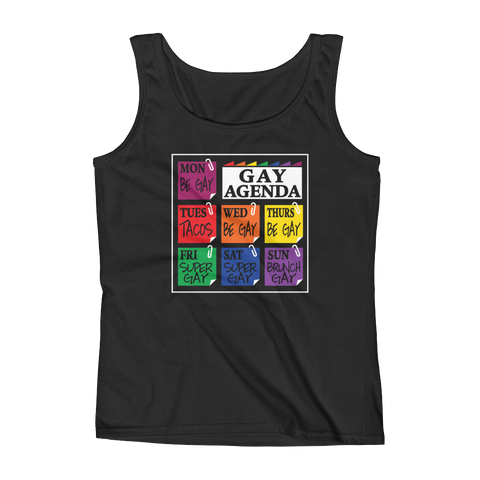 Gay Agenda - Ladies' Tank - Cozzoo