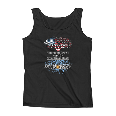 American Grown With Argentinian Roots - Ladies' Tank - Cozzoo