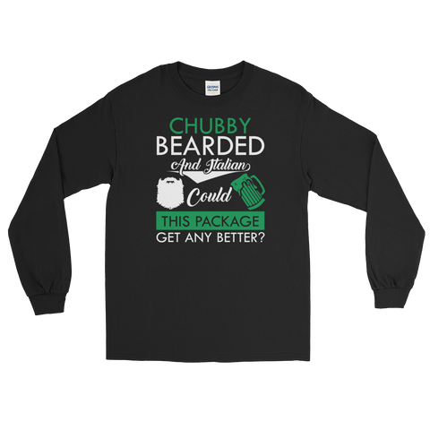 Chubby Bearded And Italian Could This Package Get Any Better? - Long Sleeve T-Shirt - Cozzoo