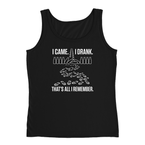 I Came. I Drank. That's All I Remember - Ladies' Tank - Cozzoo