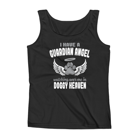 I Have A Guardian Angel Watching Over Me In Doggy Heaven - Ladies' Tank - Cozzoo