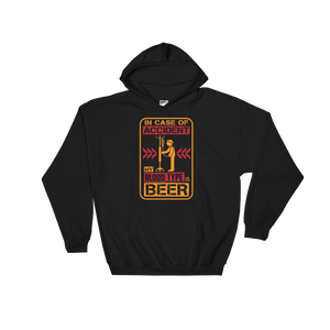 In Case Of Accident, My Blood Type Is Beer - Hoodie Sweatshirt Sweater - Cozzoo