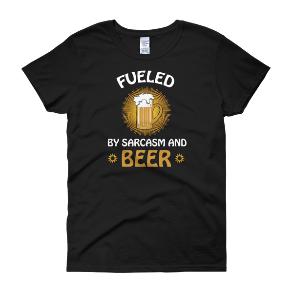 Fueled By Funny And Beer - Women's short sleeve t-shirt - Cozzoo