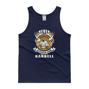 Never Underestimate A Tattooed Bearded Man With A Barbell - Tank top - Cozzoo