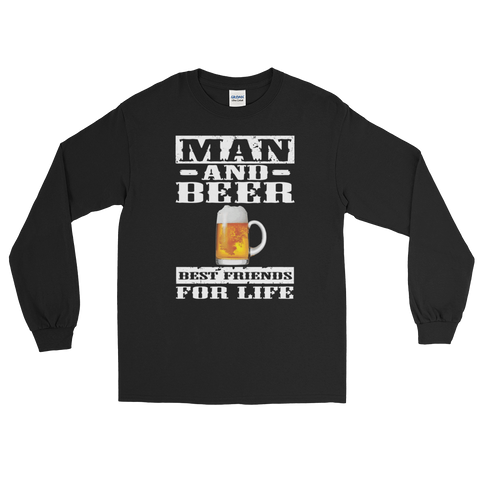 Man And Beer Best Friends For Life - Long Sleeve T-Shirt - Cozzoo